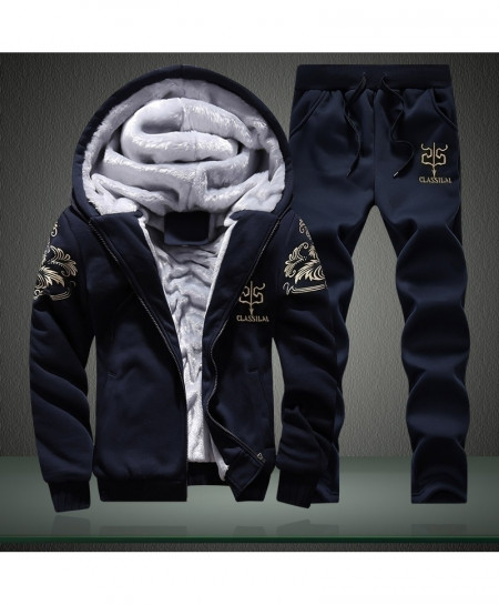 Navy Winter Tracksuit Sets AT-614