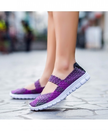 Handmade Comfortable Woven Ladies Shoes AT-980