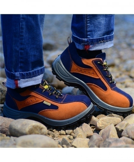 Blue Orange Puncture Proof Breathable Steel Toe Boots AT-692