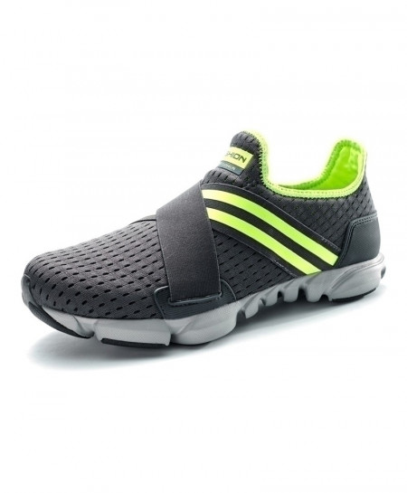 Black and Green Breathable Sneakers Slip-on Fitness Shoes