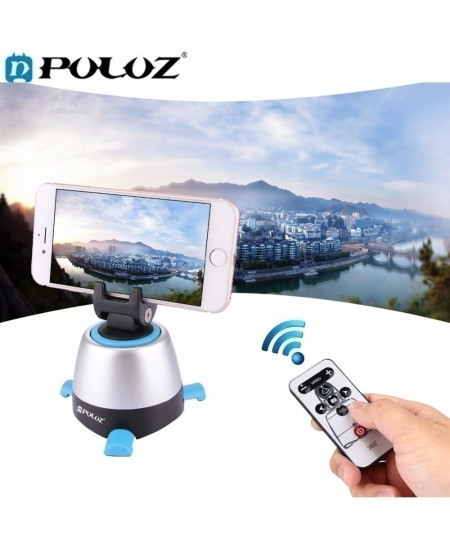 PULUZ 360 Degree Rotating Time Lapse Panoramic tripod head with remote control