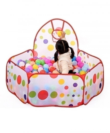 Kid Ocean Ball Pit Pool Game Play Tent with Ball Hoop