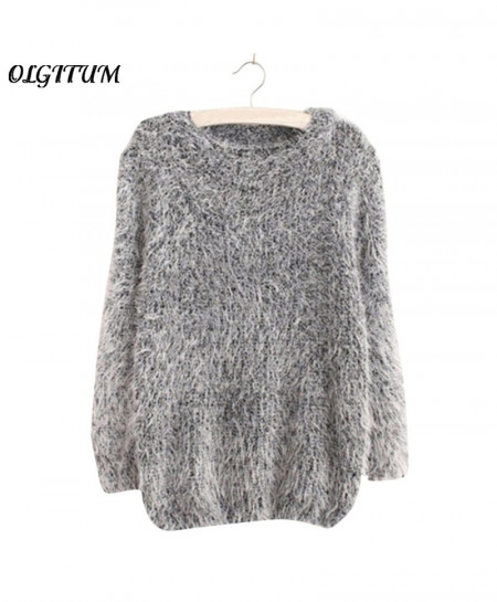 OLGITUM Hedging Loose Pullover Sweater AT-496