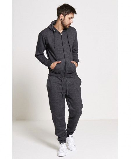 Charcoal Plain Fleece TrackSuit SPK-002
