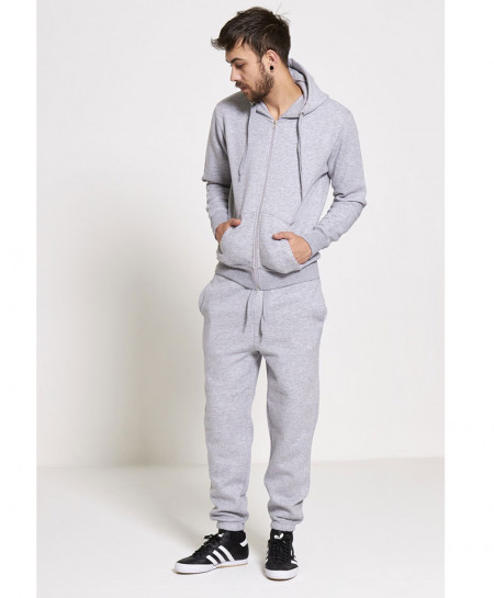 Heather Grey Plain Fleece TrackSuit SPK-003