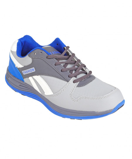 Grey And Blue Comfortable Sports Shoes SPK-014