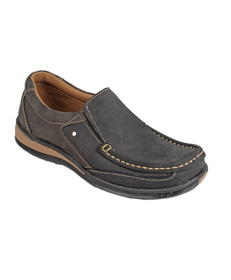 Choco Brown Leather Slip On Digger Shoes LC-666