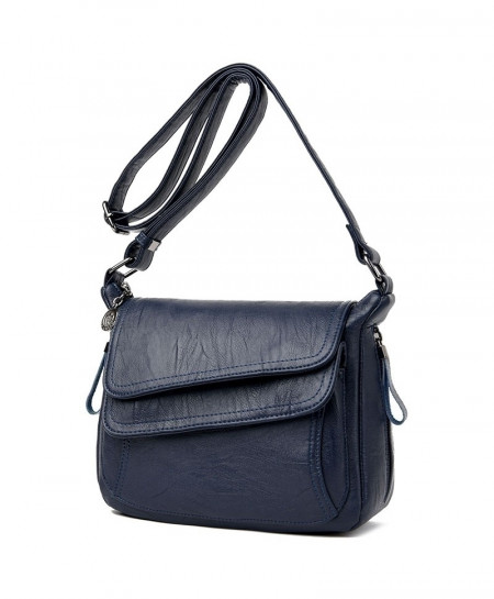 Kavard Dark Blue Leather Designer Handbag