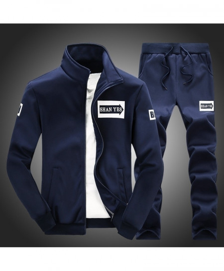 NaranjaSabor Navy Tracksuit Set AT-6882