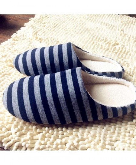 cc39547b1912 Buy OUTAD Black Striped Winter Warm Soft indoor Slippers online in ...
