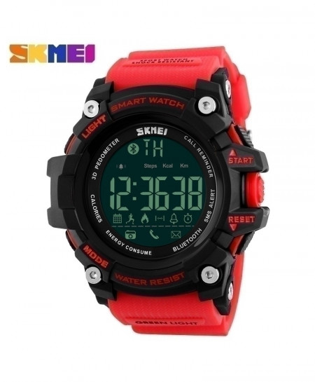 SKMEI Red Waterproof Digital Chronograph Calories Pedometer AT-592
