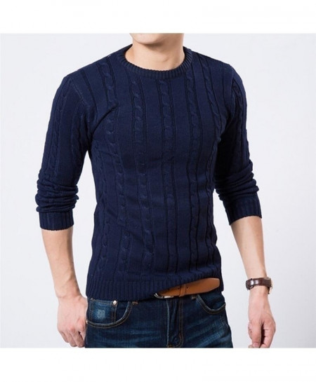 Navy Pullover Jumper Sweater AT-5829