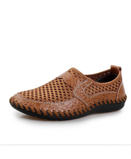Brown Breathable Mesh Shoes
