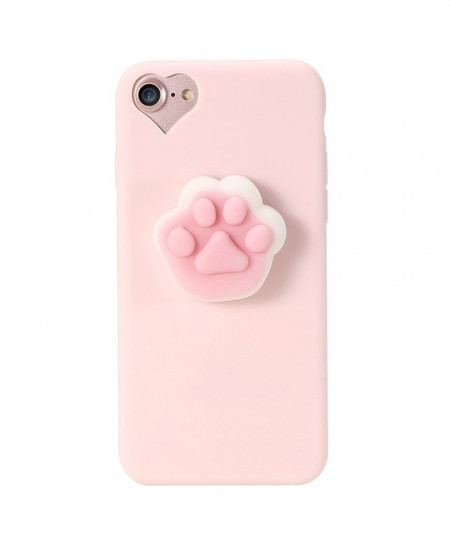 KISSCASE Pink Cartoon Bear Paw For iphone Silicon Case