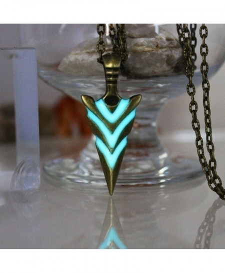 Green Arrow Luminous Pendants Necklace