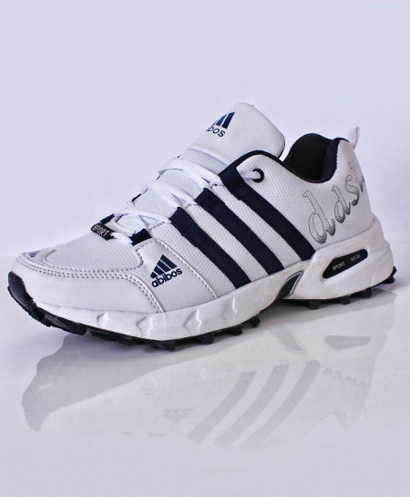 White Navy Stripes Stylish Sports Shoes DR-200