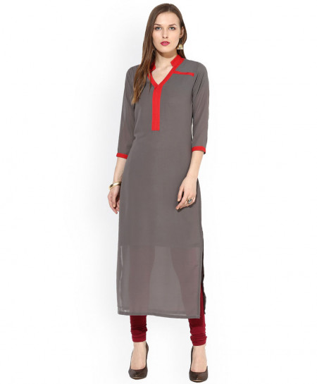 Silver Red Tipping A Line Style Ladies Kurti ALK-845