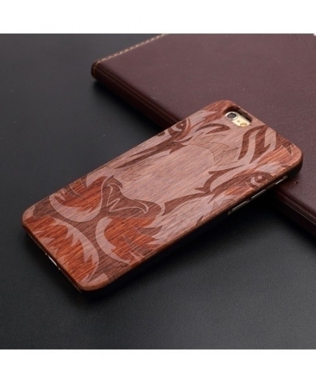 Lion iPhone Wooden Shockproof Back Cover