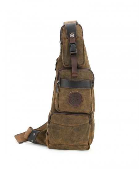Canvas Travel Riding Shoulder Cross Body Back Pack
