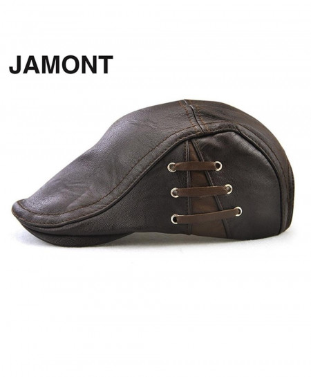 56d80369d12 Buy JAMONT Choco Brown Berets PU Leather Hat Flat online in Pakistan ...