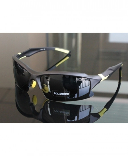 Black Professional Polarized Sports Sunglasses
