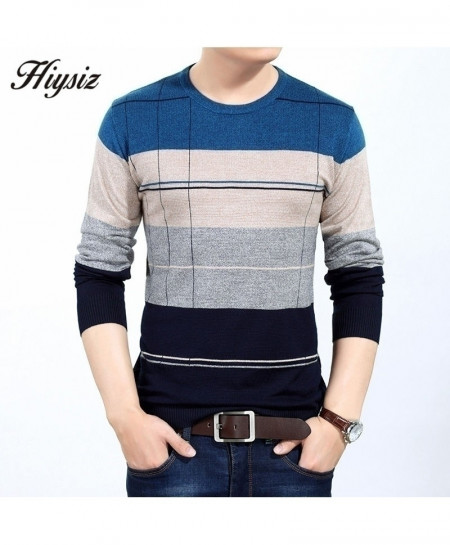 COODRONY Multi Color Stripe Knitted Wool Pullover Sweater AT-4890