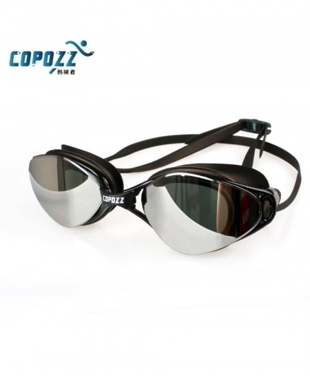 Copozz Black Anti-Fog UV Protection Adjustable Swimming Goggles AT-4770