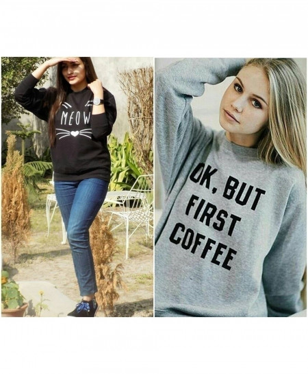 Pack Of 2 Ladies Sweat Shirt Fleece Tops FSF-031