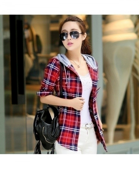 Red Checkered Plaid Sweatshirt
