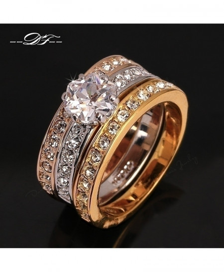 Rounds Cubic Zirconia Paved Ring