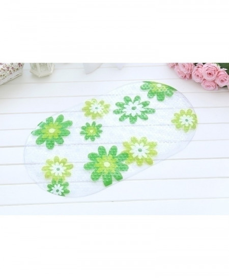 Floral Anti-Slip PVC Suction Cups Bath Mat