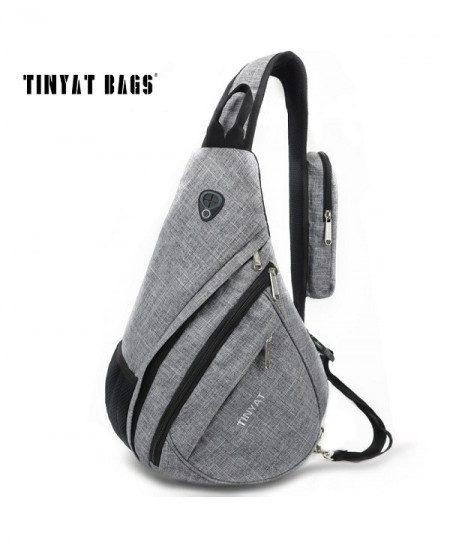 TINYAT Gray Stylish Chest Bag