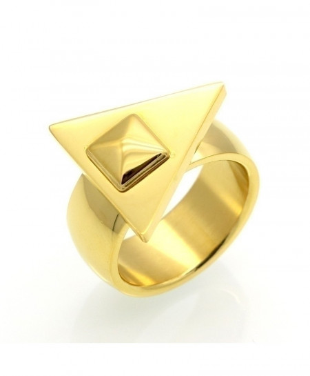 BORASI Triangle Stainless Steel Punk Ring
