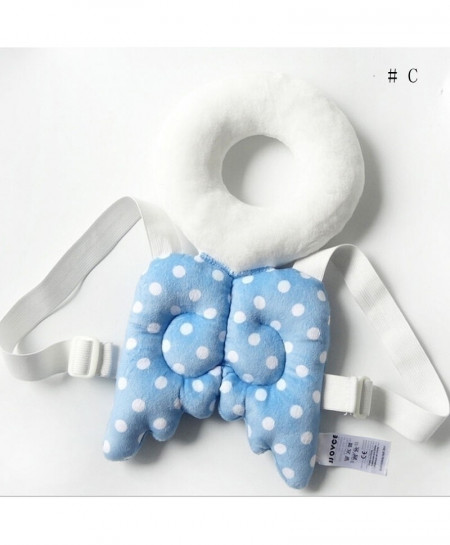 Stuffed Safety Harness Blue Wings Head Protector Guard Pillow Set
