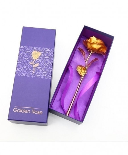 Foil Plated Golden Artificial Rose