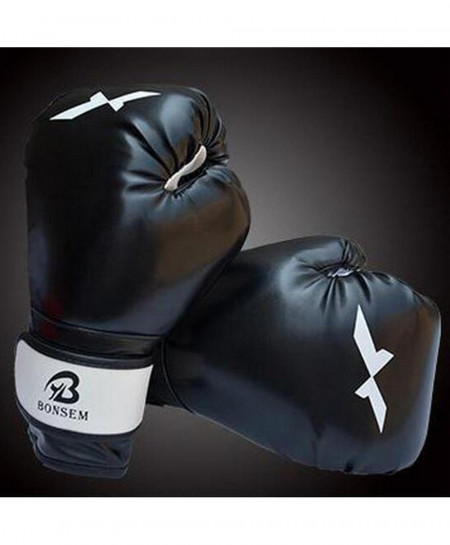 Black Training Boxing Gloves