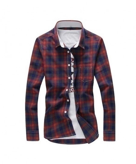 Multi Colors Red Checkered Plaid Shirt