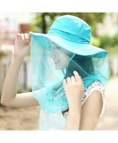 SKy Blue Lady Folding Sun Hat
