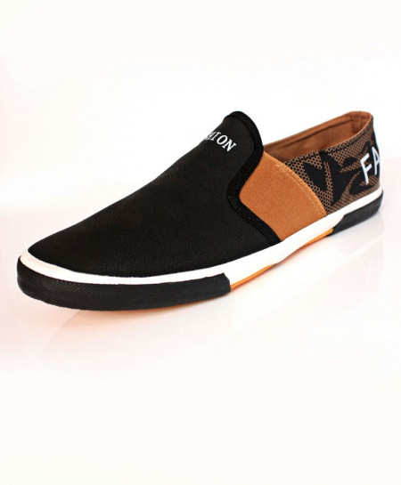 Black Slip On Stylish Sneaker Shoes DR-218