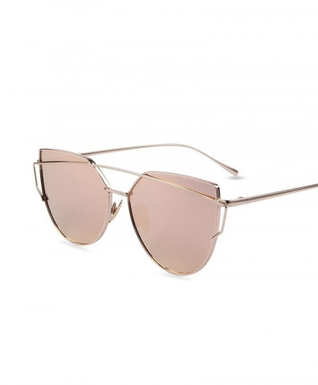 Flat Lense Cat Eye Classic Sunglasses