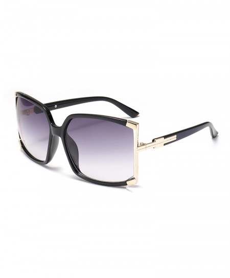DRESSUUP Black Big Frame Square Designer Sunglasses