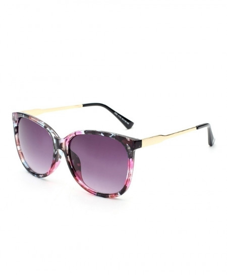 ELITERA Purple Shaded Round Designer Sunglasses