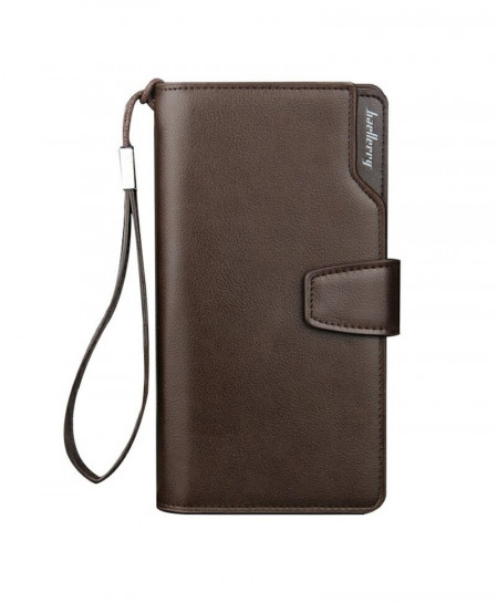 Baellerry Coffee Men Long Clutch Wallet