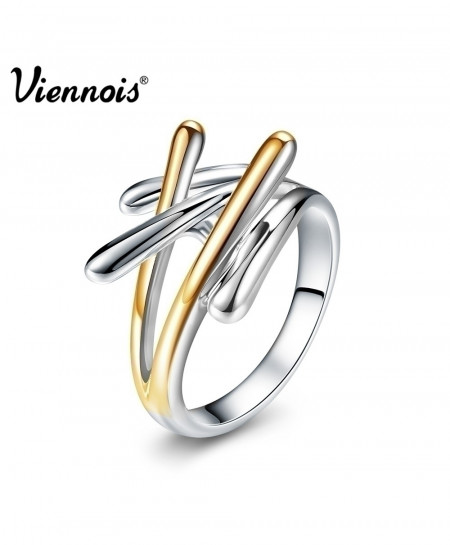 Viennois Gold And Silver Color Cross Rings