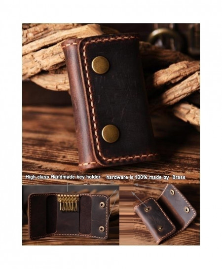 Brown Multi Shaded Handmade Leather Key Holder