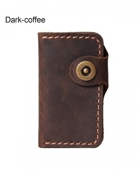 Dark Coffee Handmade Leather Key Wallet