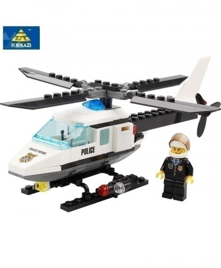 KAZI Air Force Plane Bricks Helicopter Building Blocks Toy
