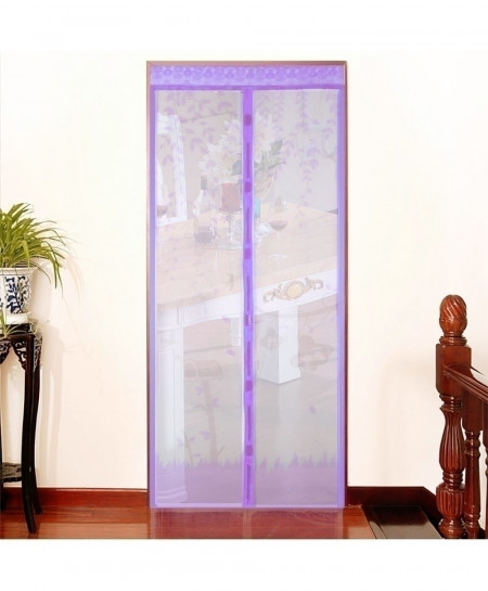 Purple Anti Mosquito Magnetic Tulle Shower Screen