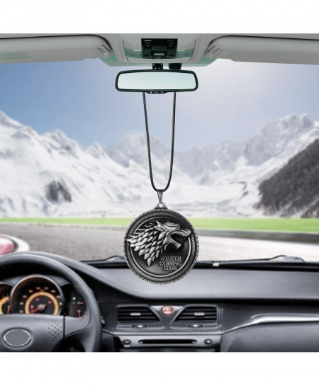 Pack of 3 Stark Wolf Car Pendant