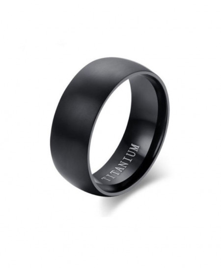 Men Black Titanium Ring
